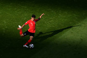 Yong Lee of Korea Republic passes the ball during the 2018 FIFA World Cup Russia group F match between Korea Republic and Germany at Kazan Arena on June 27, 2018 in Kazan, Russia.
