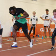Kristie Baillie Usain Bolt Attends Track and Field Clinic