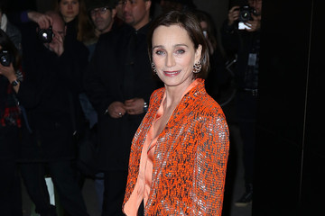 Kristin Scott Thomas Arrivals at the Giorgio Armani Prive Show