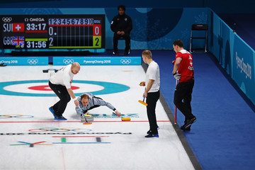 Kyle Smith Curling - Winter Olympics Day 13