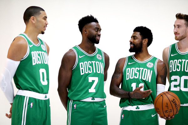 fe87f5461aab Kyrie Irving and Jaylen Brown Photos - 1 of 16. Boston Celtics Media Day