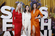 Devon Windsor, Nicole Harrison and guest attend the first anniversary celebration of L'Avenue at Saks on February 04, 2020 in New York City.