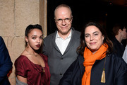 (L-R) Singer-songwriter FKA Twigs, artistic director Hans-Ulrich Obrist, and founder of th LUMA Foundation Maja Hoffman attend the L.A. Dance Annual Gala at The Theatre at Ace Hotel at The Theatre at Ace Hotel on December 10, 2016 in Los Angeles, California.