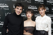 (L-R) Actor Mario Casas, actress Greta Fernandez and actress Marta Nieto attend L'Oreal Professionnel presentation at Ramses on January 16, 2020 in Madrid, Spain.