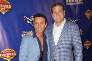 TV personality Bruno Tonioli (L) and director Jeff Calhoun attend the L.A. premiere of Disney's 'Newsies' at the Pantages Theatre on March 26, 2015 in Hollywood, California.