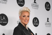 Brigitte Nielsen arrives at the LA Art Show 2019 Opening Night Gala at the Los Angeles Convention Center on January 23, 2019 in Los Angeles, California.