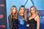 """Scarlet Rose Stallone, Sistine Rose Stallone, and Sophia Rose Stallone attends the LA Premiere of Entertainment Studios' """"47 Meters Down Uncaged"""" at Regency Village Theatre on August 13, 2019 in Westwood, California."""