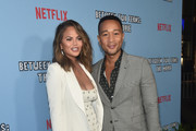 "Chrissy Teigen and John Legend attend the premiere of Netflix's ""Between Two Ferns: The Movie"" at ArcLight Hollywood on September 16, 2019 in Hollywood, California."
