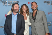 "Zach Galifianakis, Chrissy Teigen and John Legend attend the premiere of Netflix's ""Between Two Ferns: The Movie"" at ArcLight Hollywood on September 16, 2019 in Hollywood, California."