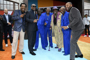 "Bobby Rush, Eddie Murphy, The O'Jays, Jimmy Lynch and Mike Epps attend the LA premiere of Netflix's ""Dolemite Is My Name"" at Regency Village Theatre on September 28, 2019 in Westwood, California."