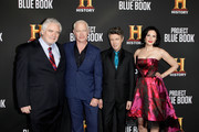 """(L-R) Michael Harney, Neal McDonough, Aidan Gillen and Laura Mennell attend the LA premiere party for HISTORY's new drama """"Project Blue Book"""" on January 3, 2019 in Los Angeles, California."""