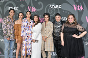 "Carlos Miranda, Mishel Prada, Melissa Barrera, Chelsea Rendon, Roberta Colindrez, Ser Anzoategui and Tanya Saracho attend LA Premiere Of Starz' ""VIDA"" at Regal Downtown Theater on May 20, 2019 in Los Angeles, California."