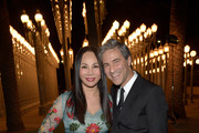 LACMA Trustee Eva Chow (L) and LACMA director Michael Govan attend LACMA 2015 Art+Film Gala Honoring James Turrell and Alejandro G Iñárritu, Presented by Gucci at LACMA on November 7, 2015 in Los Angeles, California.