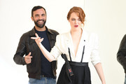 Nicolas Ghesquiere and Emma Stone attend the LVMH Prize 2018 Edition at Fondation Louis Vuitton on June 6, 2018 in Paris, France.