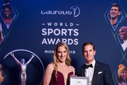 New member of the Laureus World Sports Academy, Missy Franklin received the new Aquatimer Chronograph Edition Laureus Sport for Good from IWC CEO Christoph Grainger-Herr which was launched on the occasion of the Laureus World Sport Awards on February 18, 2019 in Monte Carlo, Monaco.