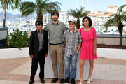 (L-R) Actor Rodolfo Dominguez, director Diego Quemada-Diez, actor Brandon Lope and actress Karen Martinez attends the 'La Jaula De Oro' Photocall during the 66th Annual Cannes Film Festival on May 22, 2013 in Cannes, France.
