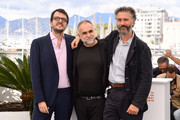 """(L-R) Rodrigo Teixeira, Director Karim Ainouz and Michael Weber attend the photocall for """"La Vie Invisible D'Euridice Gusmao"""" during the 72nd annual Cannes Film Festival on May 20, 2019 in Cannes, France."""