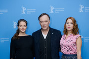 Yvonne Catterfeld, Christophe Gans and Lea Seydoux attend 'La belle et la bete' (Die Schoene und das Biest) photocall during 64th Berlinale International Film Festival at Grand Hyatt Hotel on February 14, 2014 in Berlin, Germany.