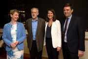 Labour leadership candidates (L-R) Yvette Cooper, Jeremy Corbyn, Liz Kendall and Andy Burnham pose for a photograph ahead of a radio hustings on August 25, 2015 in Stevenage, England. Candidates are continuing to campaign for Labour party leadership with polls placing left-winger Jeremy Corbyn in the lead. Voting is due to begin on the 14th of August with the result being announced on the 12th of September.