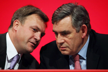 Gordon Brown Ed Balls The Labour Party Hold Their Annual Party Conference