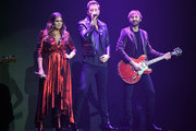 "(L-R) Recording artists Hillary Scott, Charles Kelley and Dave Haywood of Lady Antebellum perform as the band kicks off its 15-show residency ""Our Kind of Vegas"" at The Pearl concert theater at Palms Casino Resort on February 8, 2019 in Las Vegas, Nevada."