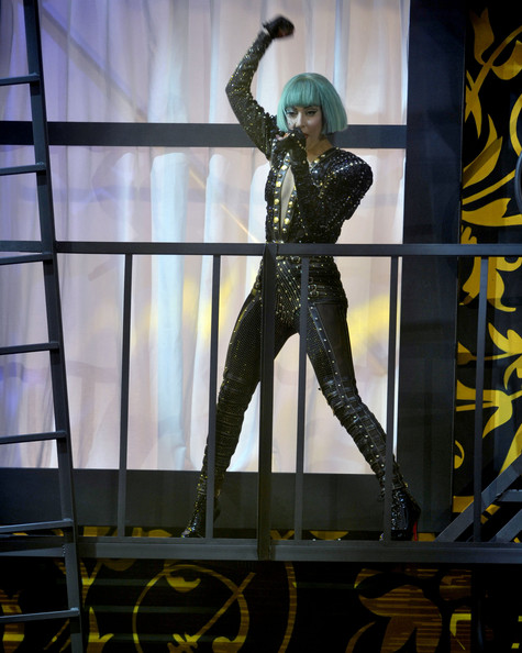 Lady Gaga Lady Gaga performs on stage at the 2011 MuchMusic Video Awards on June 19, 2011 in Toronto, Canada.