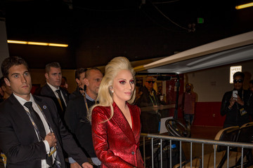 Lady Gaga Celebrities at Super Bowl 50
