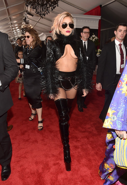 Lady+Gaga+59th+GRAMMY+Awards+Red+Carpet+