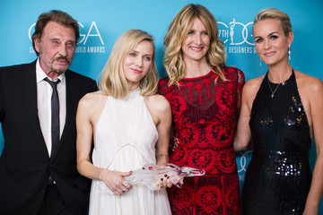 Laeticia Hallyday 17th Costume Designers Guild Awards With Presenting Sponsor Lacoste - Green Room
