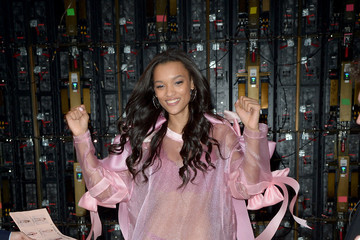 Lameka Fox 2016 Victoria's Secret Fashion Show in Paris - Backstage