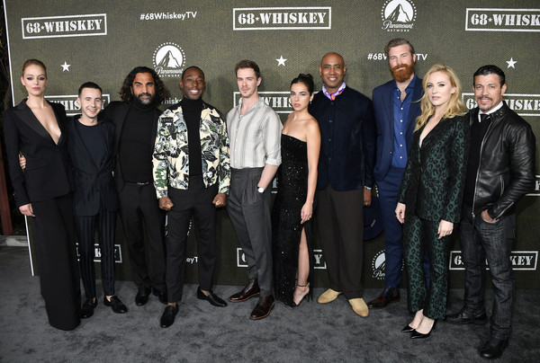 "Paramount Network's ""68 Whiskey"" Premiere Party [event,premiere,team,68 whiskey,gage golightly,nicholas coombe,sam keeley,lamont thompson,cristina rodlo,fahim fazil,premiere party,l-r,paramount network,jeremy tardy,nicholas coombe,68 whiskey,getty images,stock photography,photograph,photography,livingly media,image]"