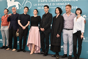"(from second left) Pascal Greggory, Mark Chao, director Ye Lou, Gong Li, guest, Joe Odagiri, Tom Wlaschiha and Huang Xiangli attend the ""Lan Xin Da Ju Yuan"" (Saturday Fiction) photocall during the 76th Venice Film Festival on September 04, 2019 in Venice, Italy."