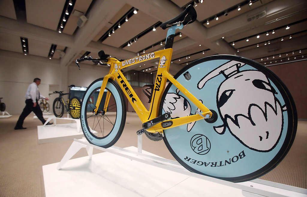 Lance Armstrong's Artist-Painted Bikes For Sale At Sotheby ...