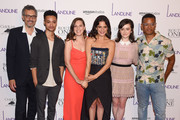 """John Turturro, Marquis Rodriguez, Gillian Robespierre, Jenny Slate, Abby Quinn and Jordan Carlos attend the """"Landline"""" New York Premiere at The Metrograph on July 18, 2017 in New York City."""