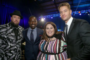 (L-R) Actors Chris Sullivan, Sterling K. Brown, Chrissy Metz and Justin Hartley attend the 23rd Annual Critics' Choice Awards on January 11, 2018 in Santa Monica, California.
