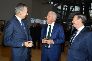 Larry Gagosian Opening Of The New Exhibitions Jean-Michel Basquiat And Egon Schiele At The Fondation Louis Vuitton