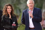 Shania is greeted by John Meglen, (R) president and CEO.of AEG Live/Concerts Westshow at Caesars Palace on November 14, 2012 in Las Vegas, Nevada. SHANIA: STILL THE ONE debuts December 1, 2012..