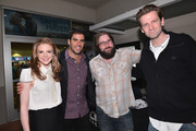"""Actress Ashley Bell, producer Eli Roth, director Ed Gass-Donnelly and director Daniel Stamm attend a special screening of CBS Films' """"The Last Exorcism Part II"""" at AMC 16 on February 28, 2013 in Burbank, California."""