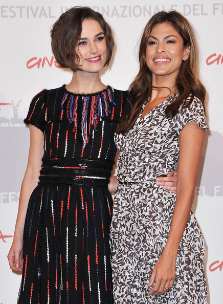 She goes to premieres with Keira Knightley.