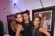 "(L-R) Actress Dania Ramirez and TV personalities Julissa Bermudez and Adrienne Bailon attend the Latina ""Hot List"" Party hosted by Latina Media Ventures at The London West Hollywood on October 6, 2015 in West Hollywood, California."