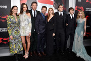 "(L-R)  Diane Lane, Gal Gadot, Ben Affleck, Zack Snyder, Amy Adams, Henry Cavill, Jesse Eisenberg, and Holly Hunter attend the launch of Bai Superteas at the ""Batman v Superman: Dawn of Justice"" premiere on March 20, 2016 in New York City."
