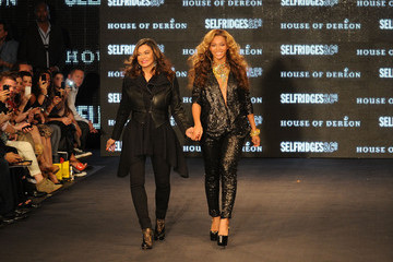 Beyonce Knowles Tina Knowles The Launch Of House Of Dereon By Beyonce And Tina Knowles