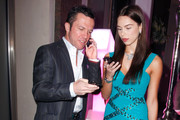 (EXCLUSIVE ACCESS) Liliana Matthaeus & Lothar Matthaeus attend the 'Launch of the new Windows Phone by Deutsche Telekom' at Hotel de Rome on October 20, 2010 in Berlin, Germany.