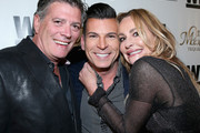 (L-R) Lawyer John Bluher, tv personalities David Tutera and Taylor Armstrong attend the launch of WE tv's David Tutera CELEBrations and Casa Mexico Tequila on November 6, 2015 in Hollywood, California.