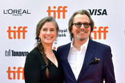 Gisele Schmidt and Gary Oldman attend the North American Premiere of 'The Laundromat' at the The Princess of Wales Theatre on September 09, 2019 in Toronto, Canada.