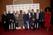 Gregory Jacobs,  Steven Soderbergh, Jake Bernstein, Meryl Streep, Scott Z. Burns, Gary Oldman, Antonio Banderas, Lawrence Grey and Jessica Allain attend the North American Premiere of 'The Laundromat' at the The Princess of Wales Theatre on September 09, 2019 in Toronto, Canada.