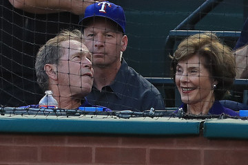 Laura Bush New York Yankees v Texas Rangers