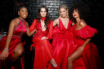 Laura Marano The American Heart Association's Go Red For Women Red Dress Collection 2020 - Backstage