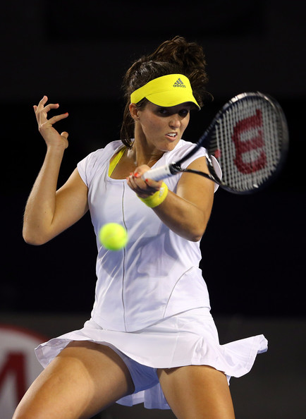 ... day four of the 2013 Australian Open at Melbourne Park on January 17