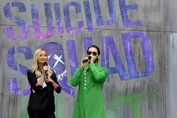 Laura Whitmore Celebs Speak at the 'Suicide Squad' Premiere in London